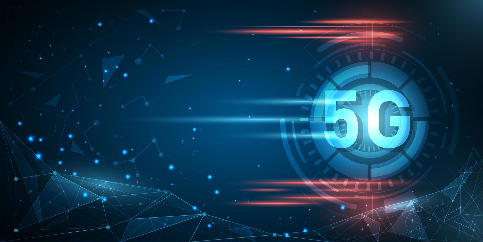 fond de technologie de réseau abstrait 5g vecteur