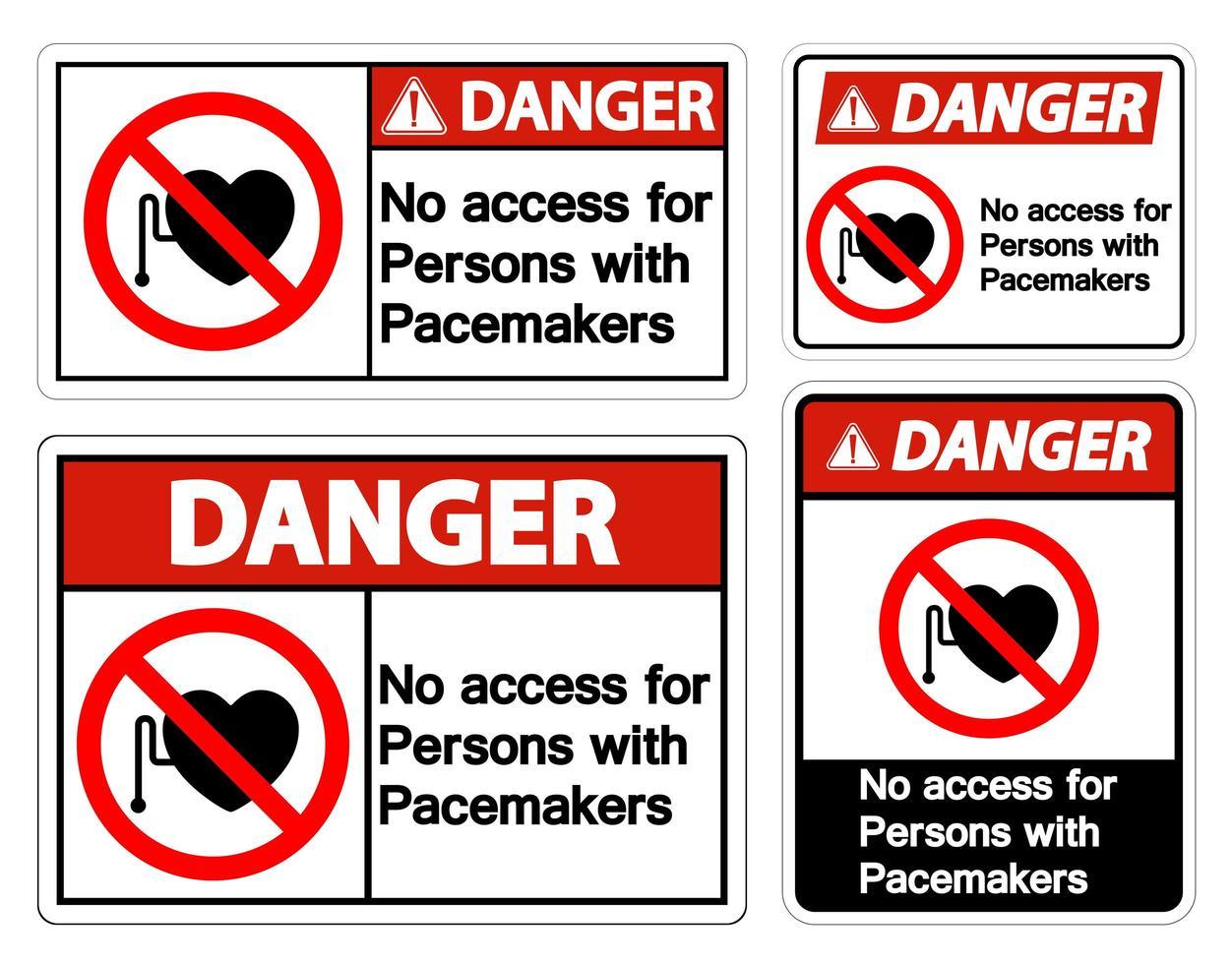 pas d'accès pour les personnes portant un symbole de stimulateur cardiaque vecteur