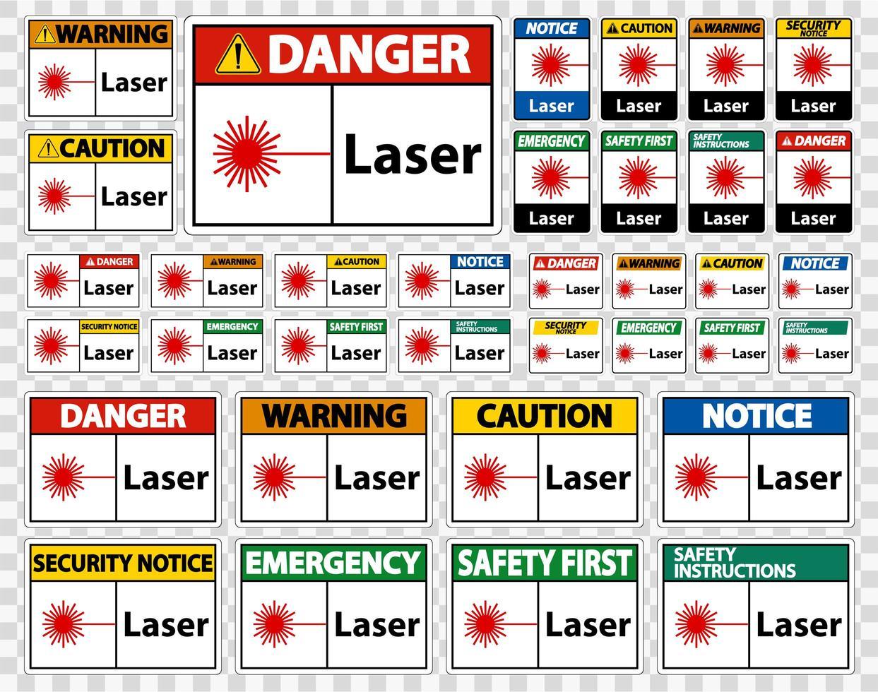 segno simbolo laser segno simbolo vettore