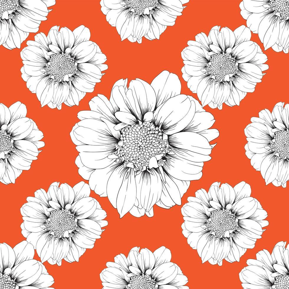 patrón sin costuras naranja vector