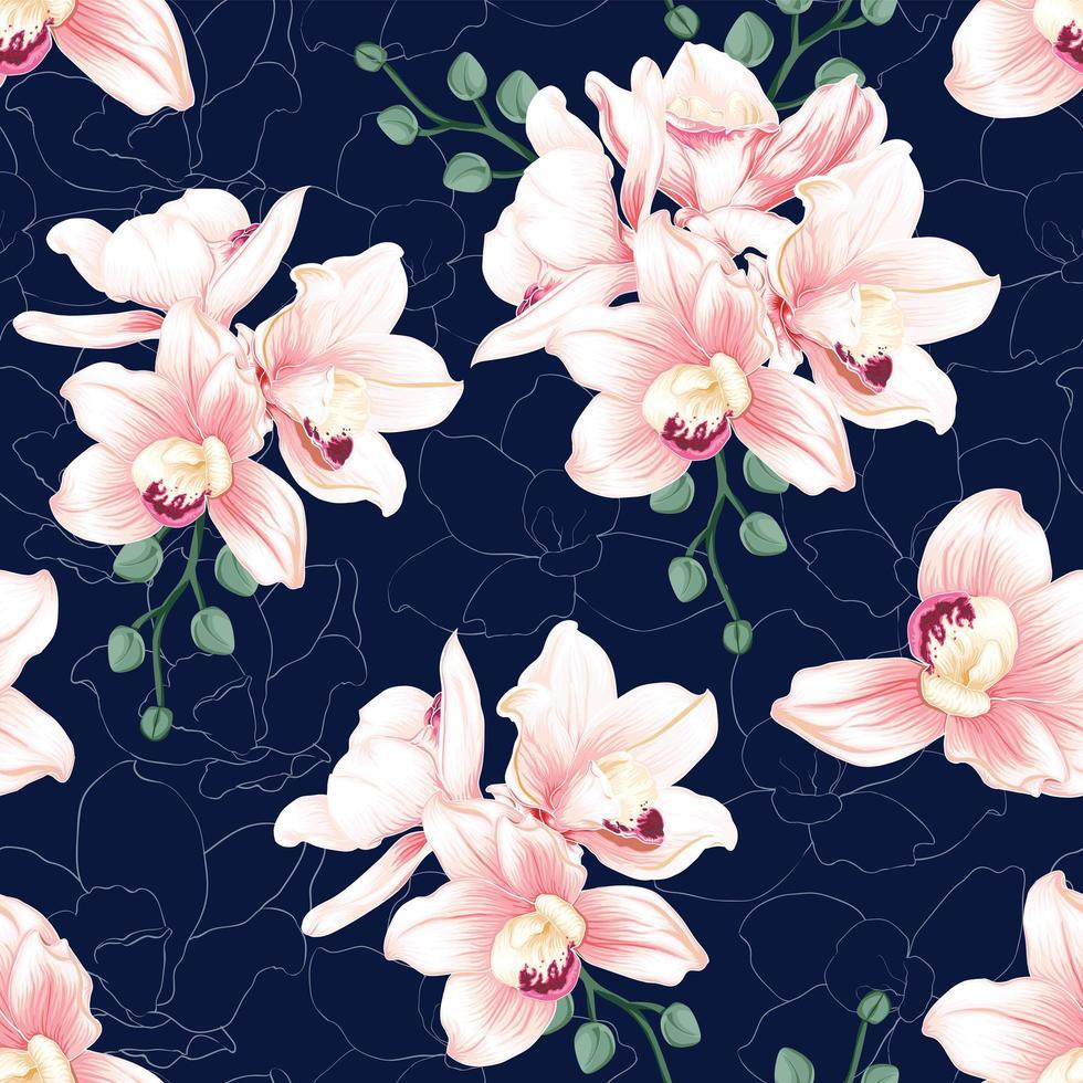 fiori botanici senza cuciture vettore