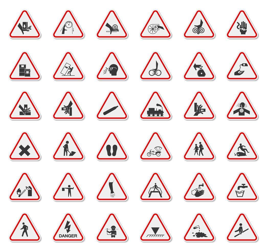triangolo segnali di pericolo vettore