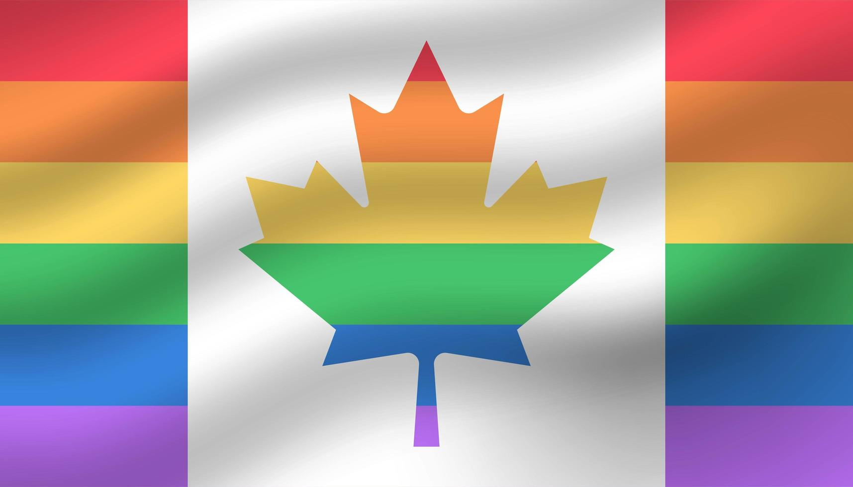 Fondo de día de orgullo de bandera de Canadá vector