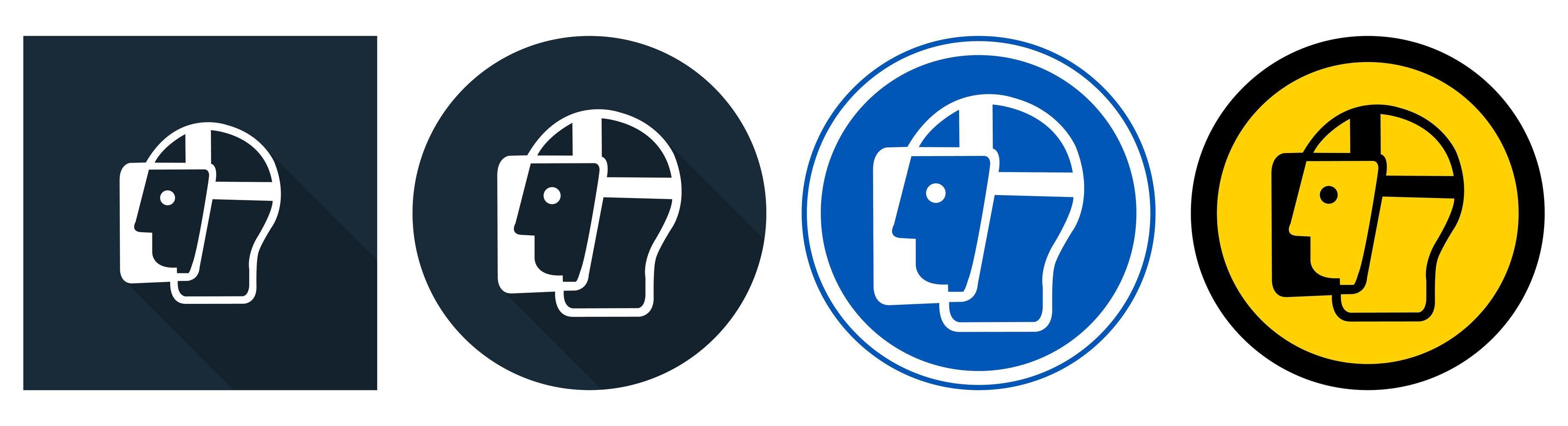 simbolo visiera deve essere indossato segno vettore