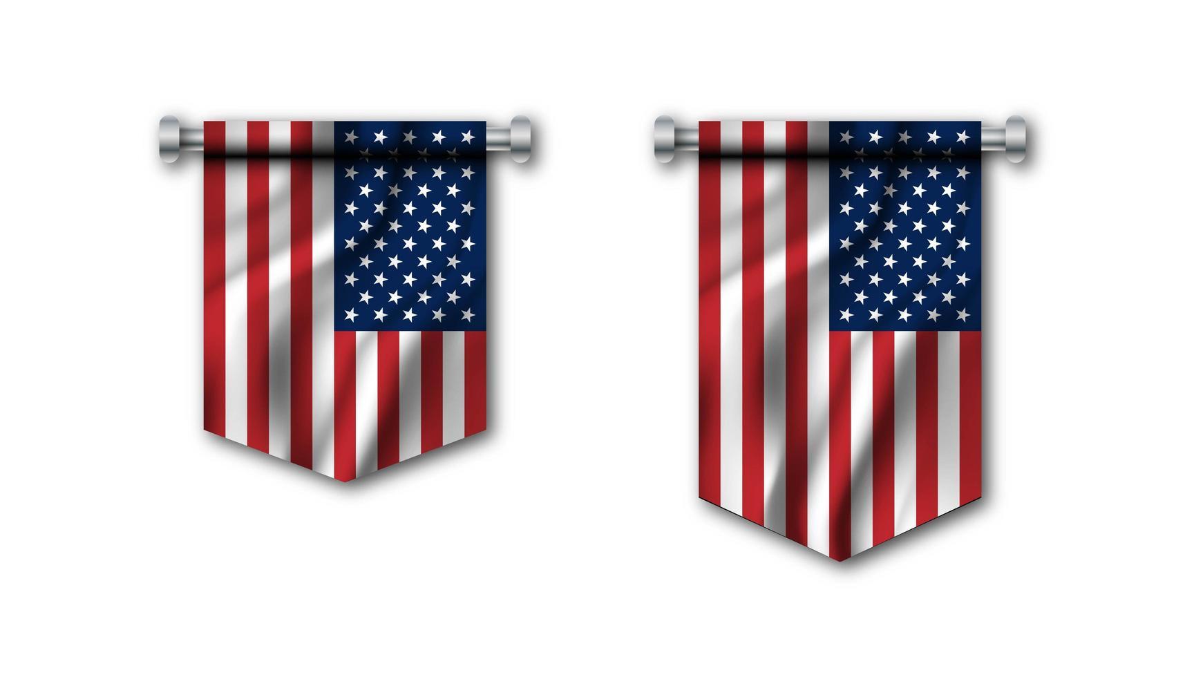 bandera de estados unidos de america vector