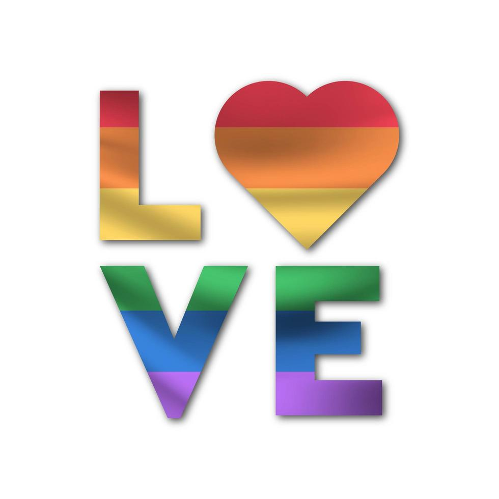 Fondo de símbolo de amor lgbt vector