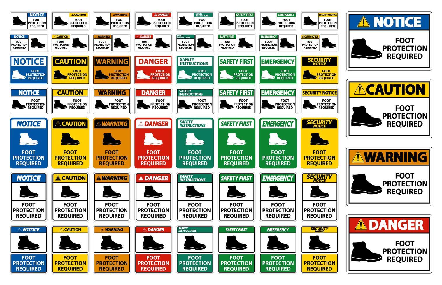 protection des pieds signes requis vecteur