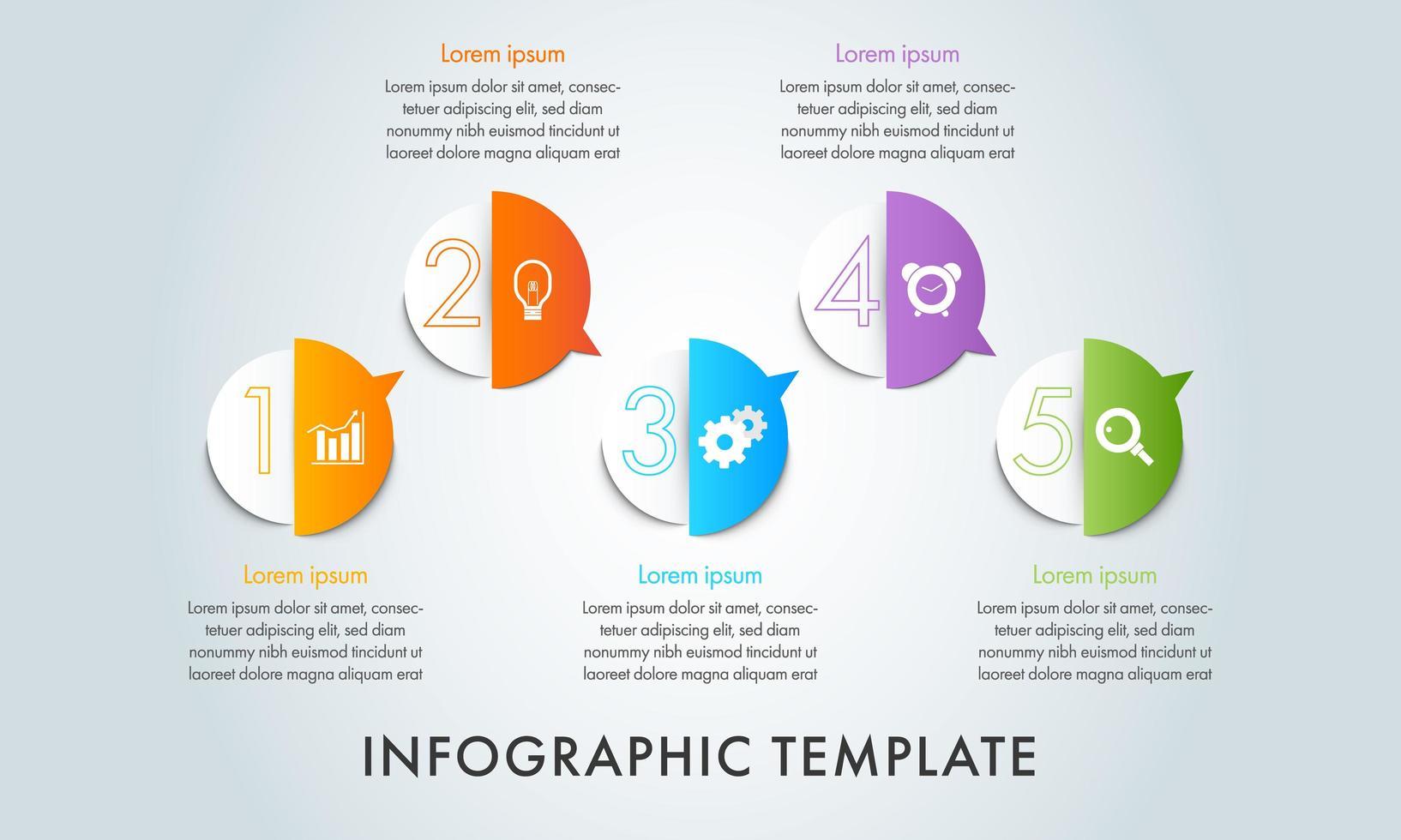 modello di business infografica 5 step vettore