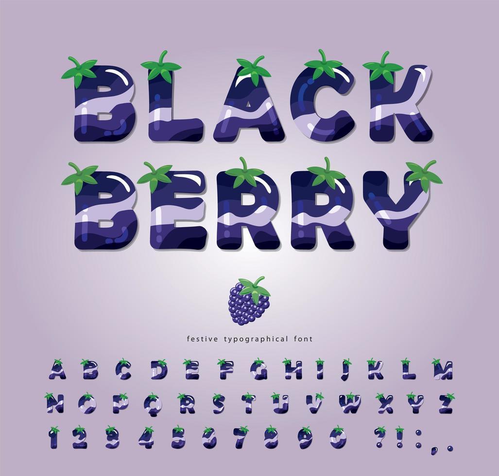 Blackberry glänzende Sommerschrift vektor