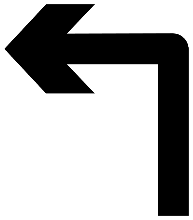 virage à gauche png