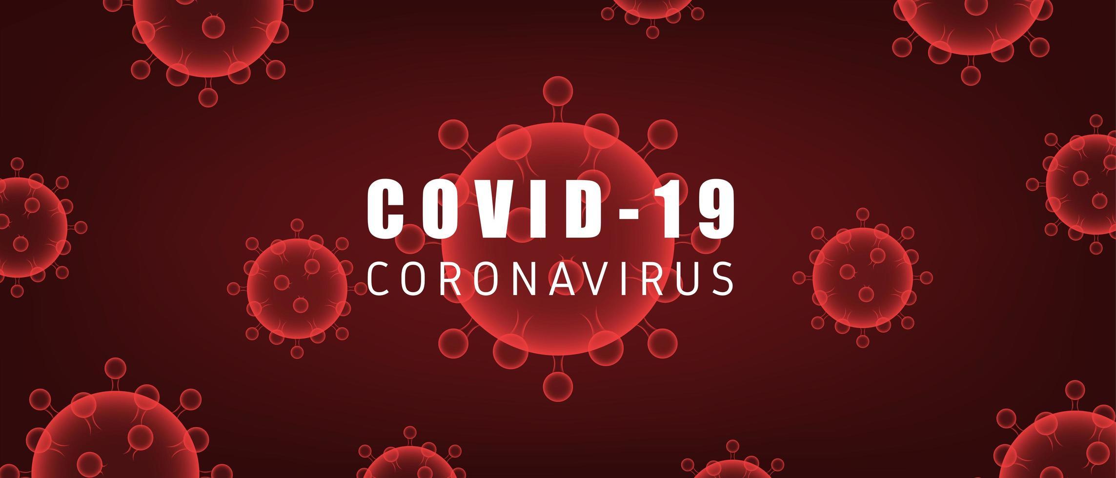 coronavirus rosso covid-19 cellule su gradiente vettore
