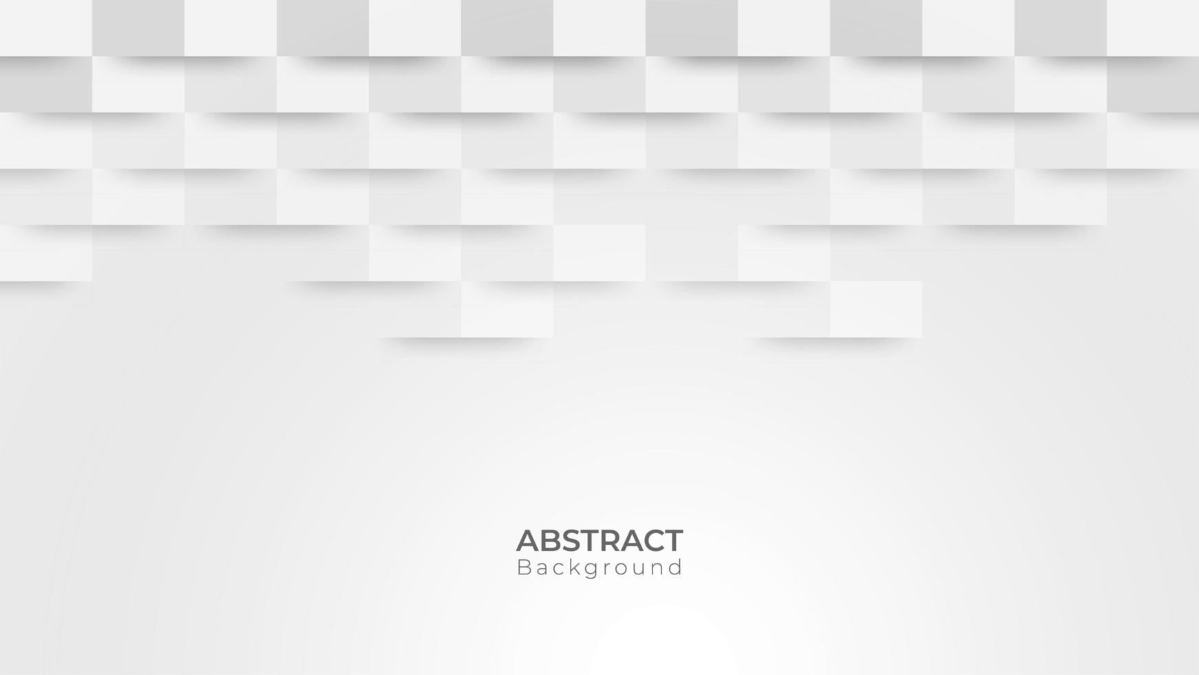 moderno design quadrato in carta grigia e bianca vettore
