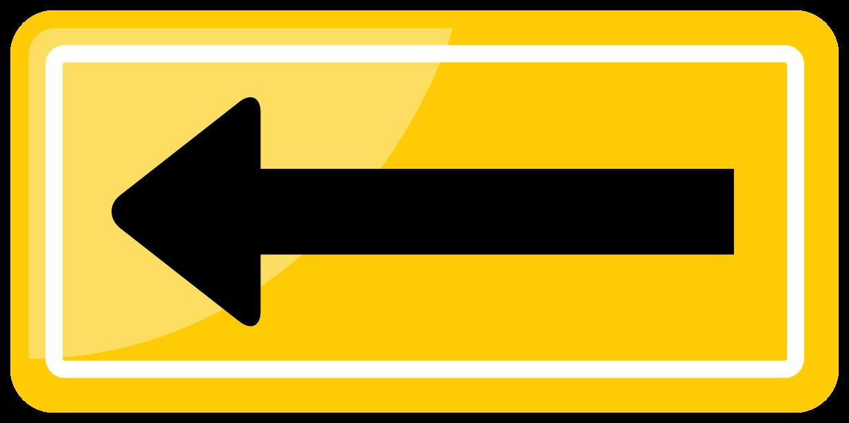 sinal de trânsito de uma direção png