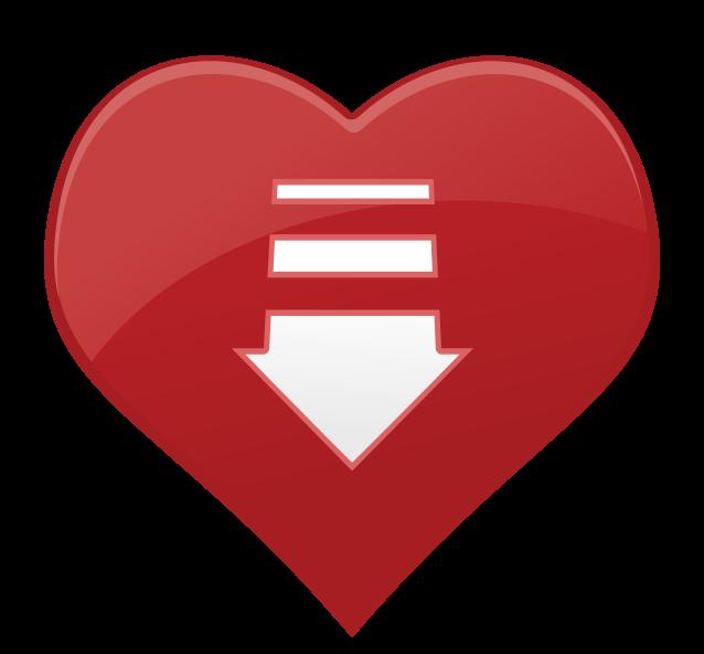 freccia dell'icona del cuore png