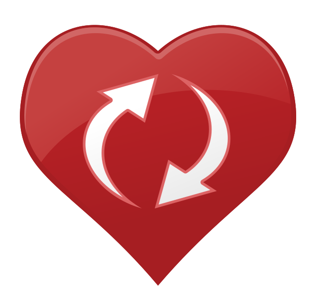 seta de ícone de coração png