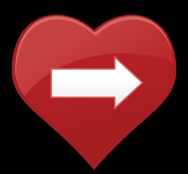 flecha de icono de corazón png