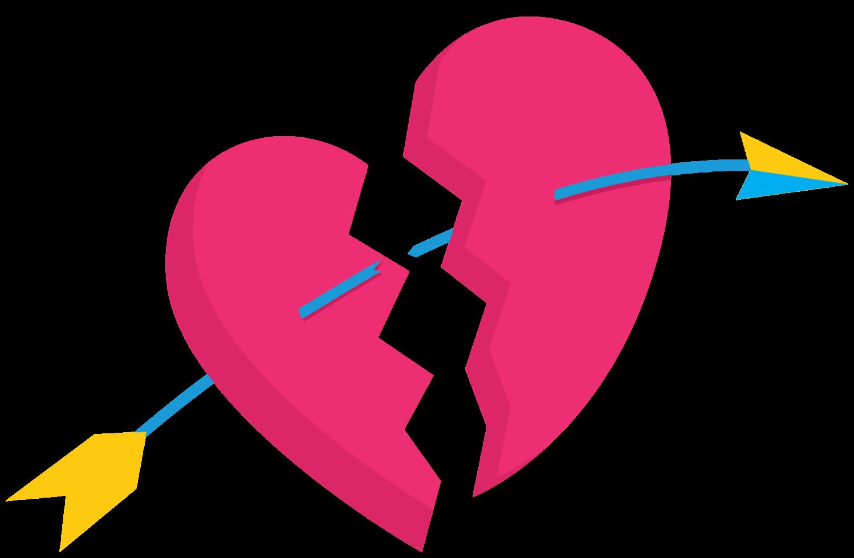 coração fofa com flecha png