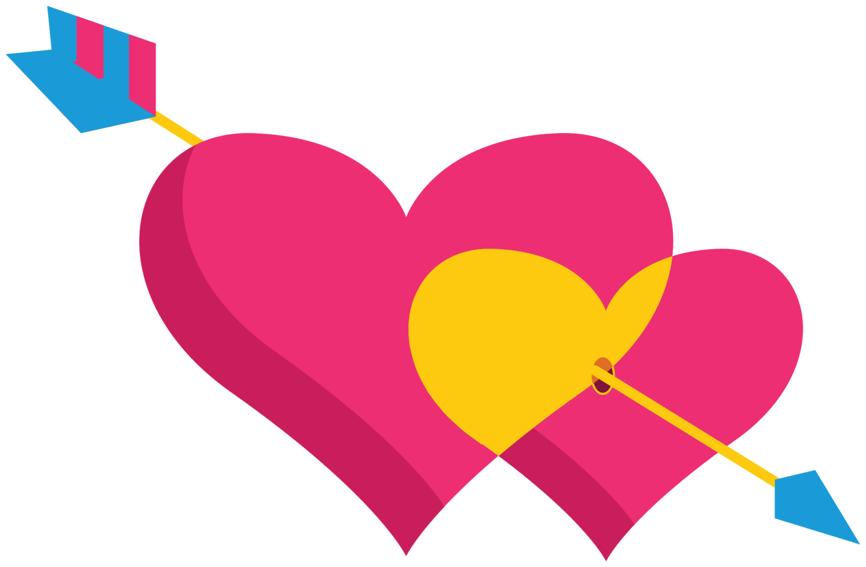 lindo corazón con flecha png