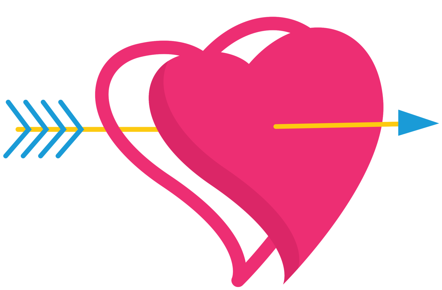 Cute heart with arrow png