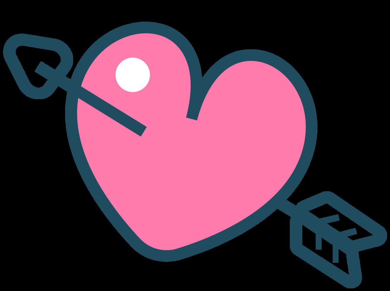 cuore con freccia png