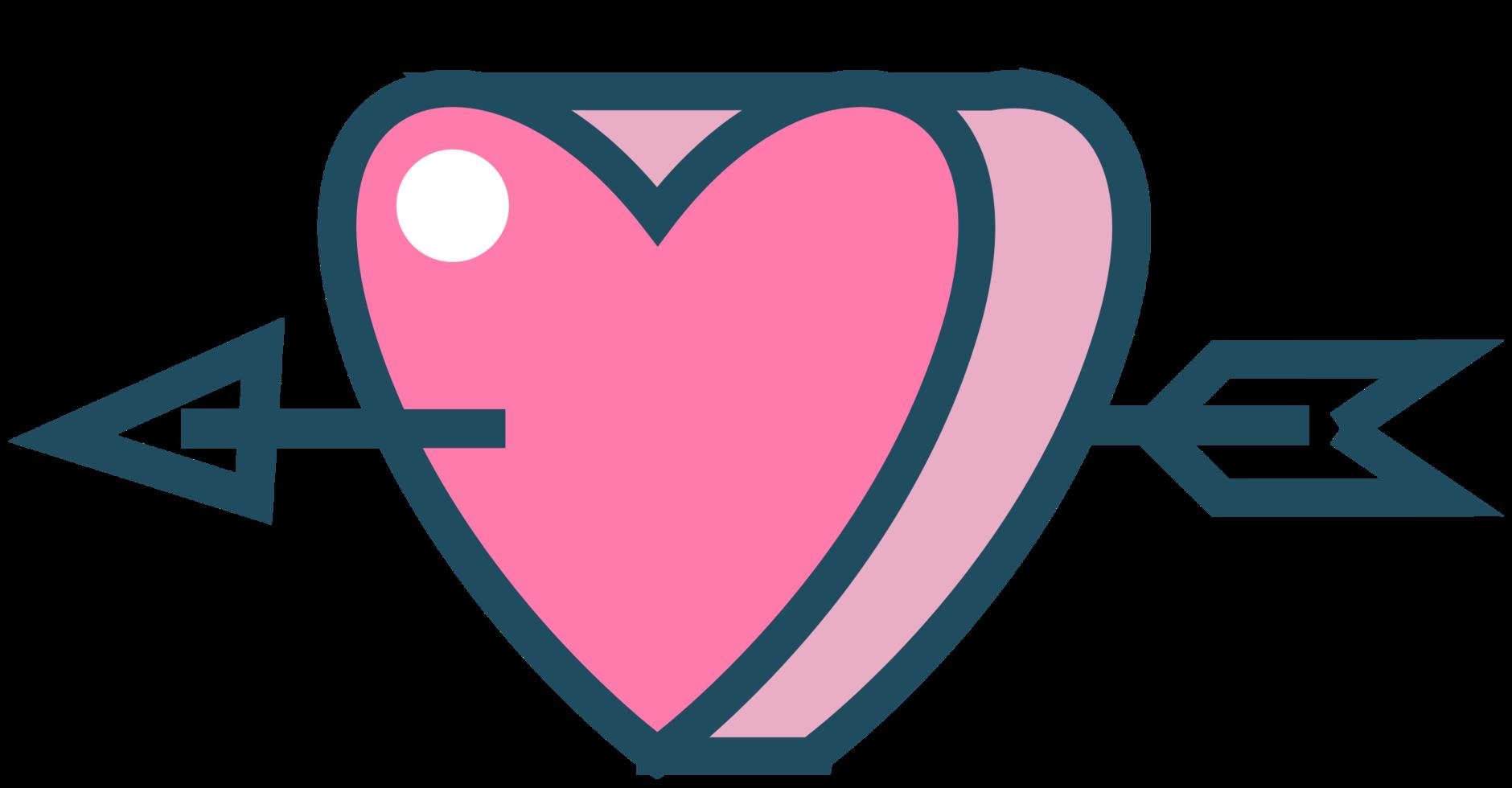 Herz mit Pfeil png