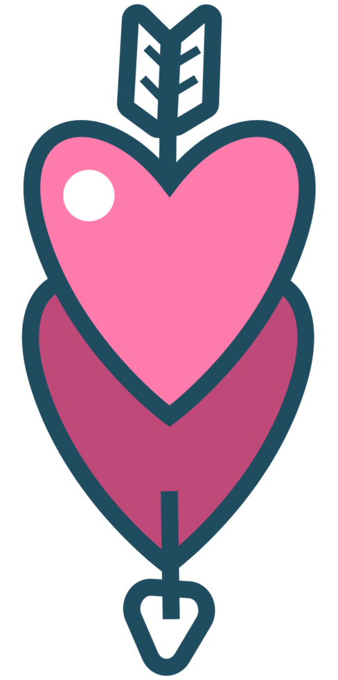 corazón con flecha png