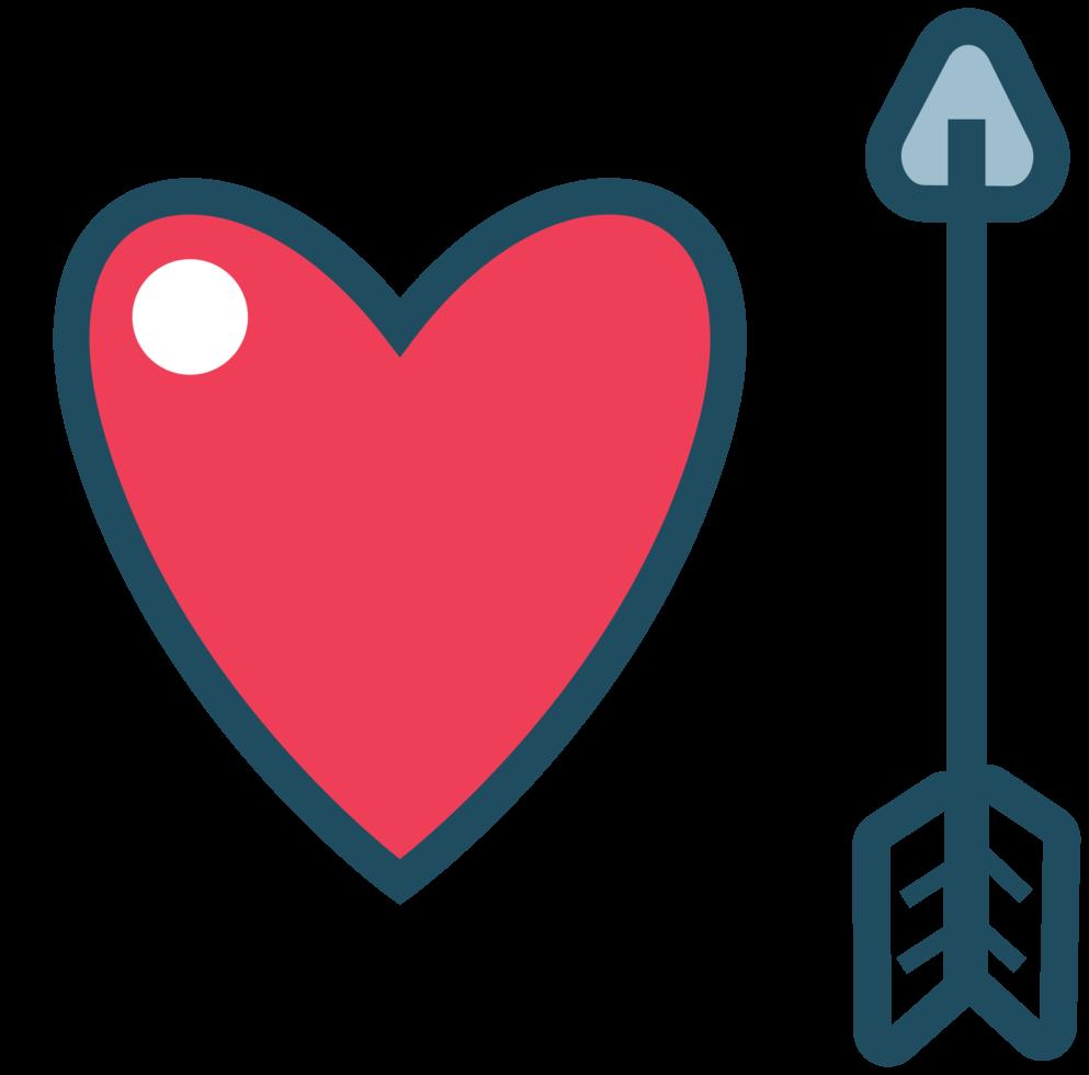 coeur avec flèche png