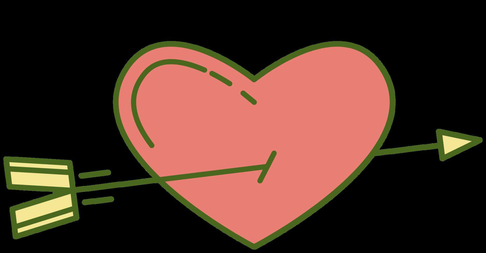 genezen hart met pijl png