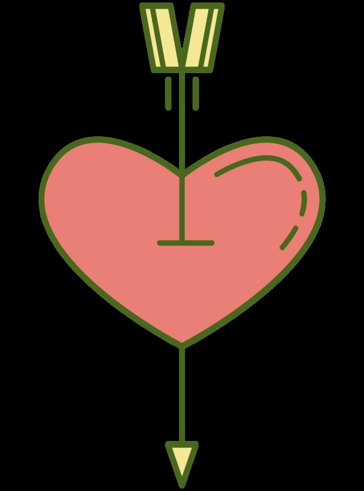 curar o coração com flecha png