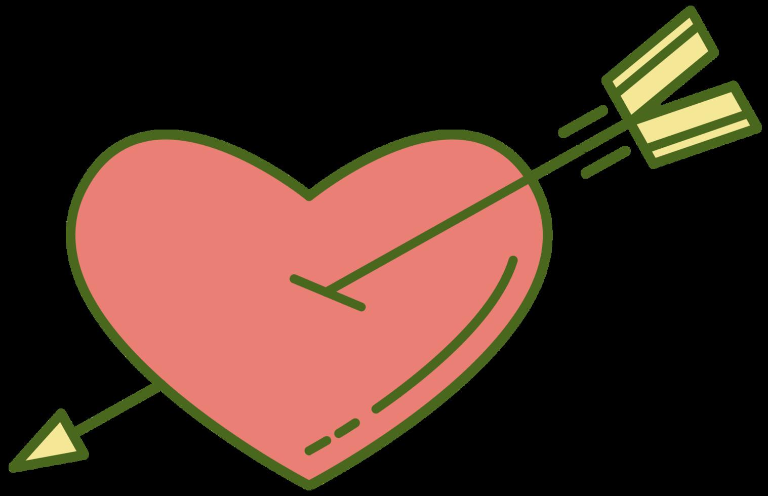 cura il cuore con la freccia png