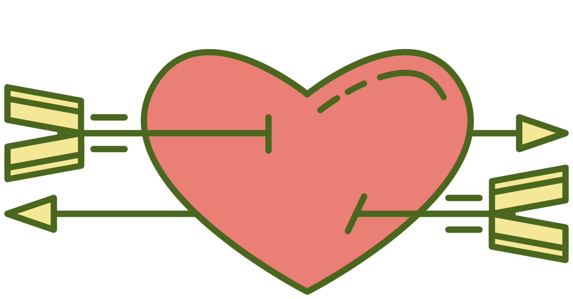 Cure heart with arrow png