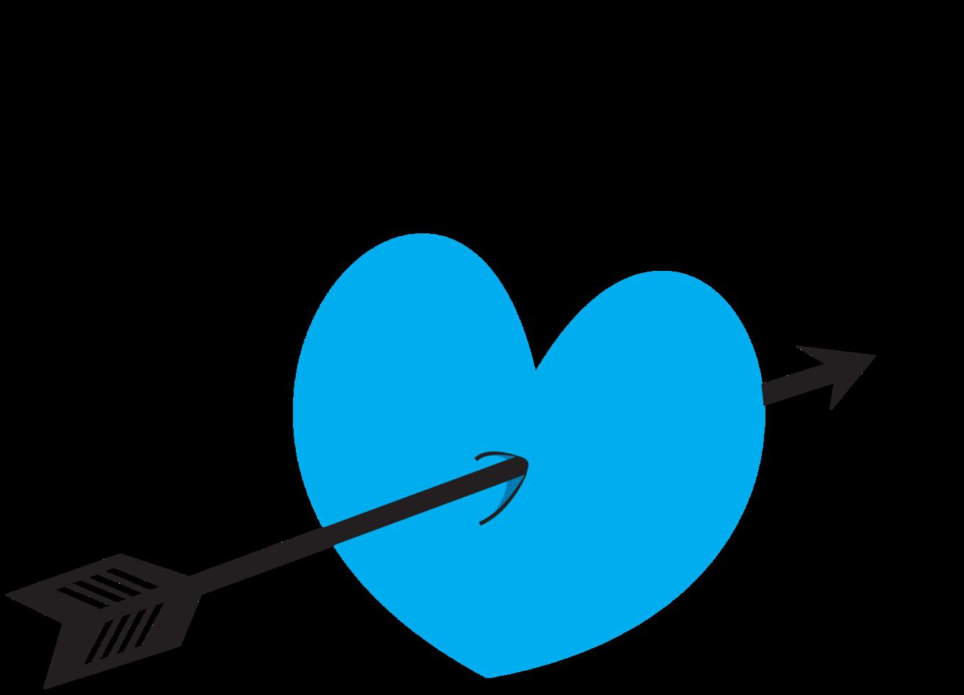 pil genom hjärtat png