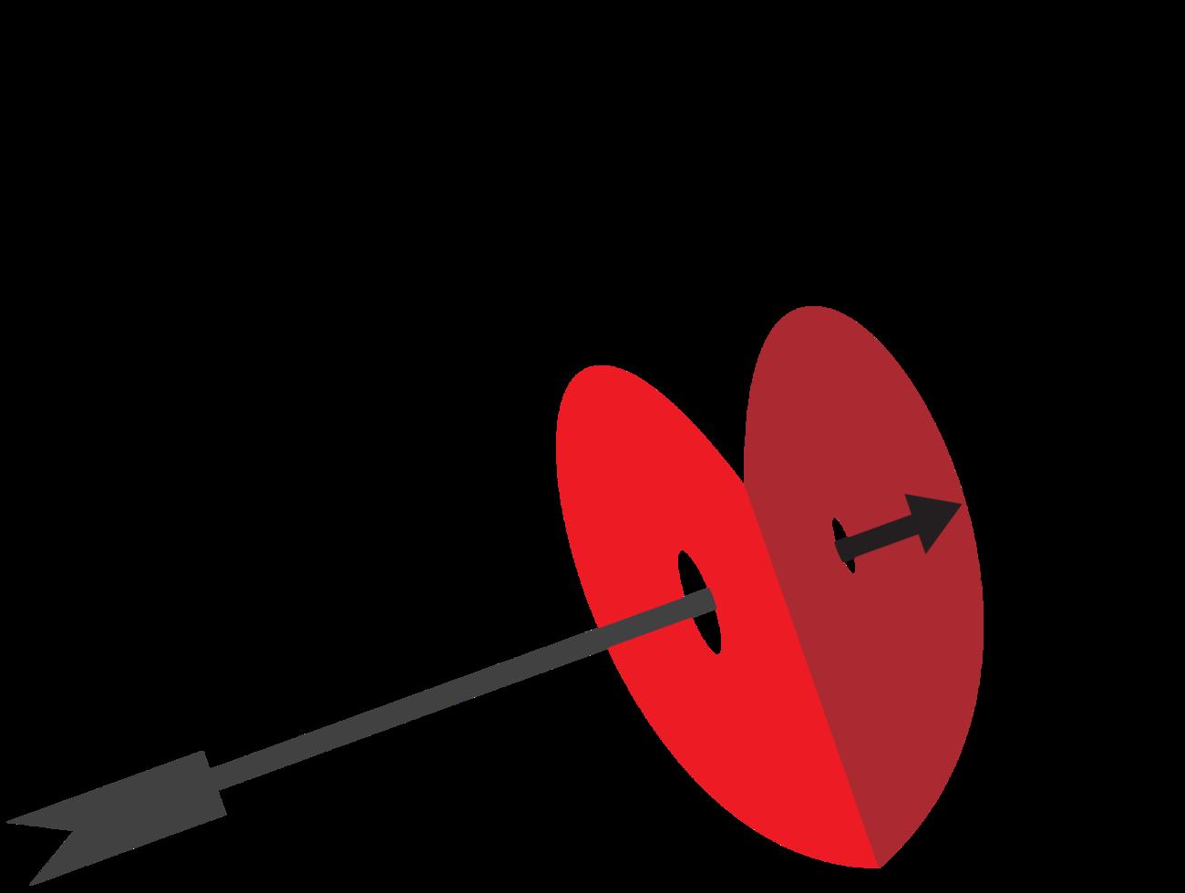 freccia attraverso il cuore png