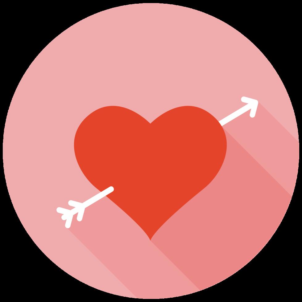 flecha de coração png