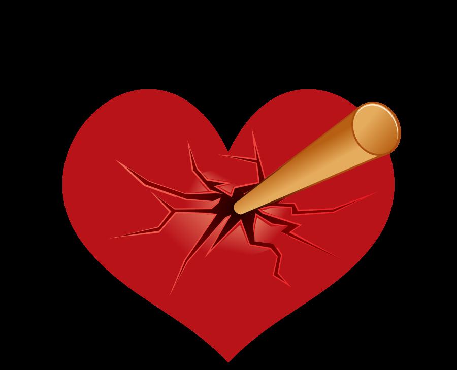 seta do coração atingida png