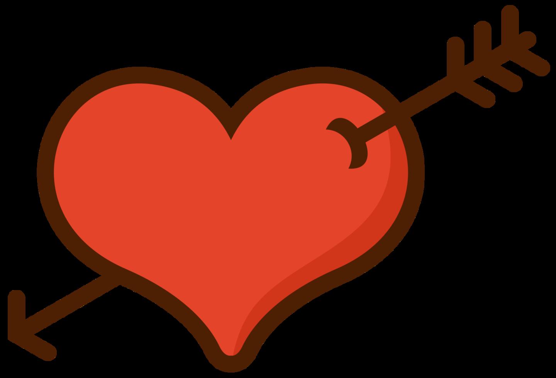 flèche de mariage coeur png