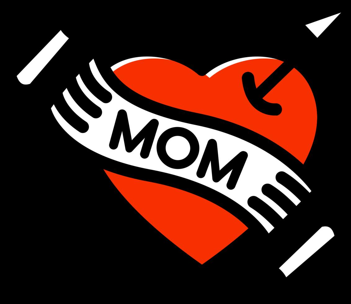coração mãe tatuagem png