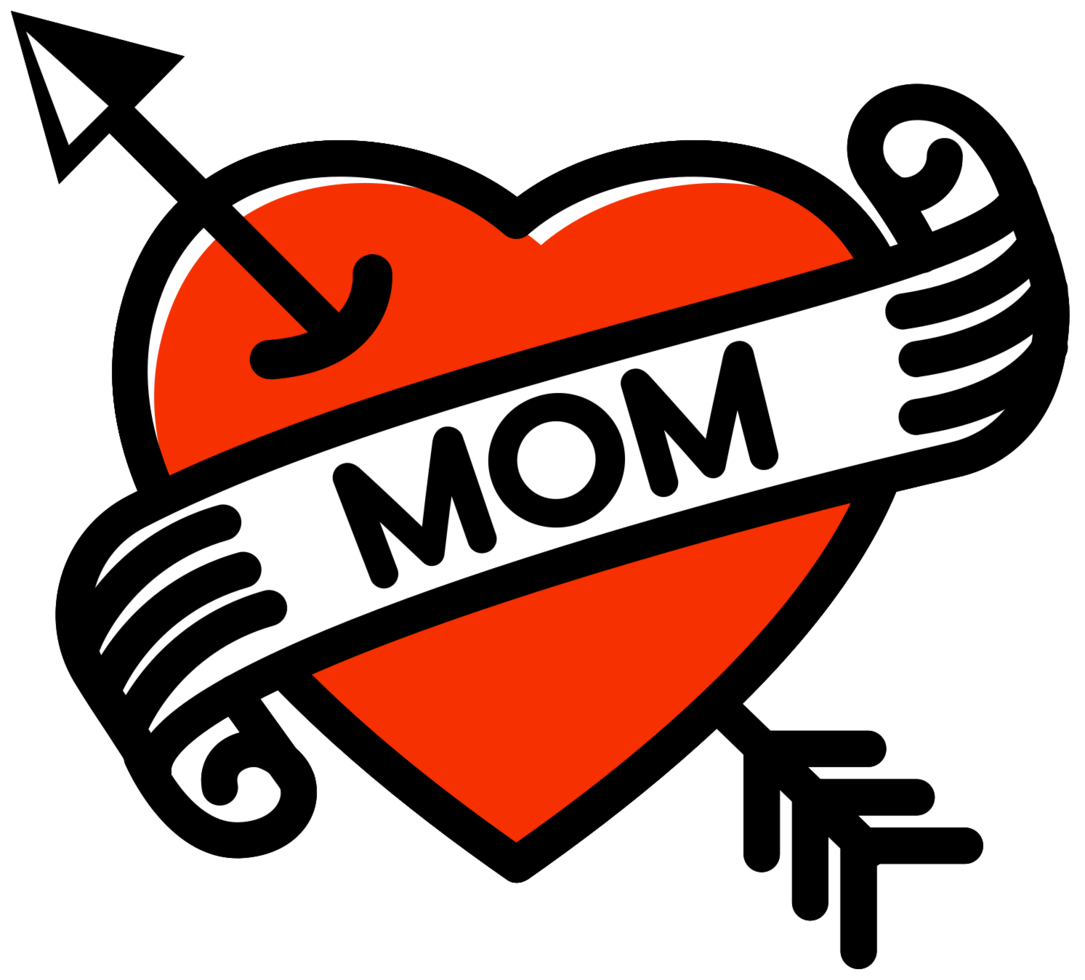 Heart mom tattoo png