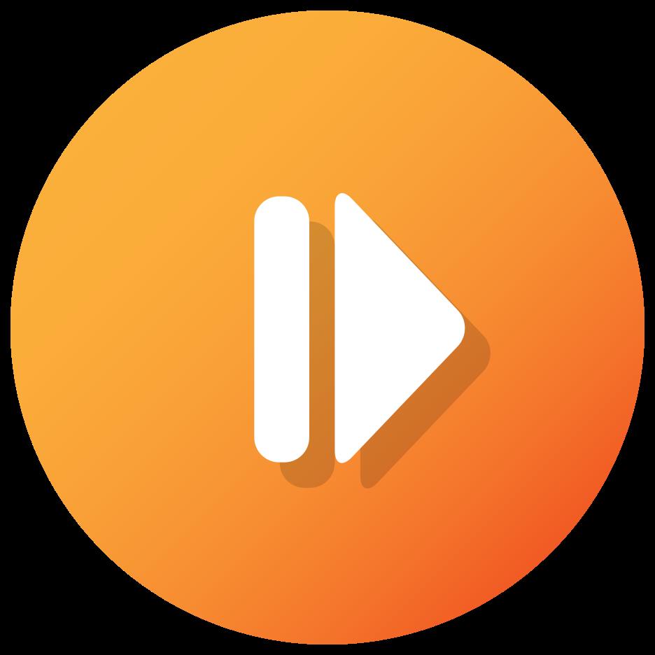 bouton avant orange png
