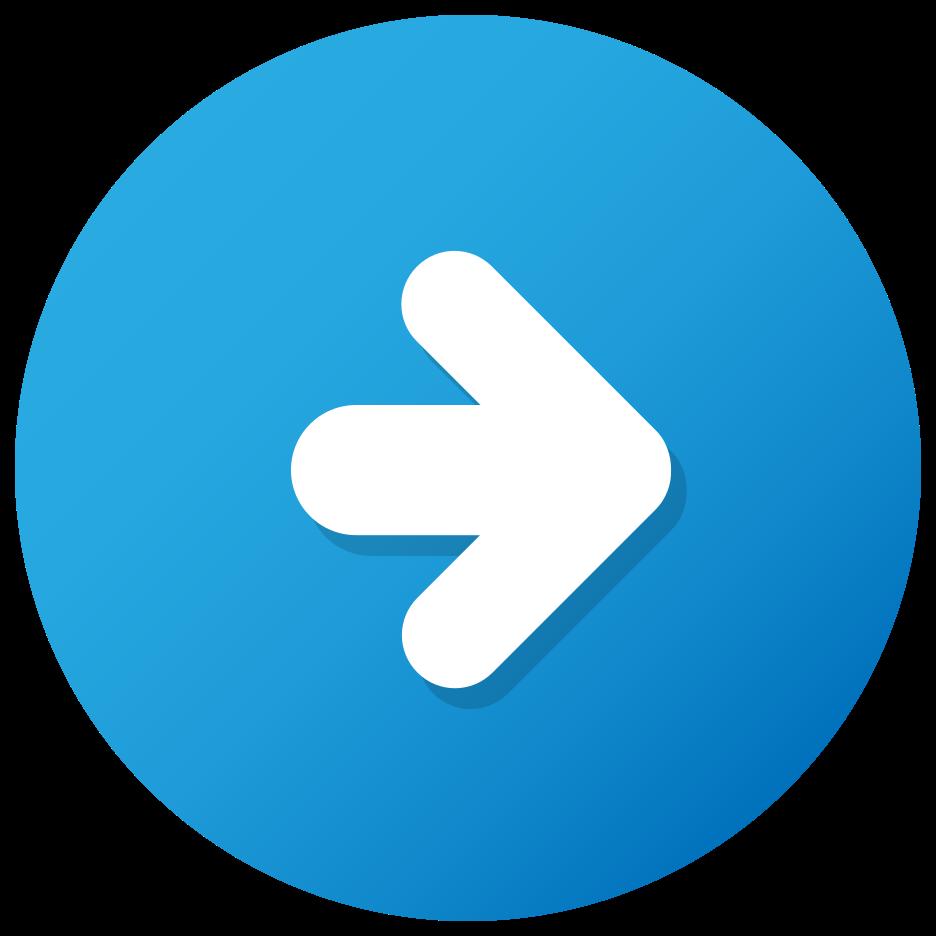 botão de seta azul png