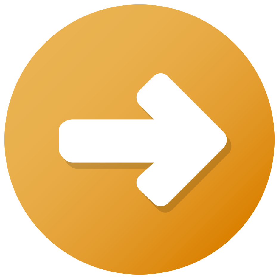 botón de flecha naranja png