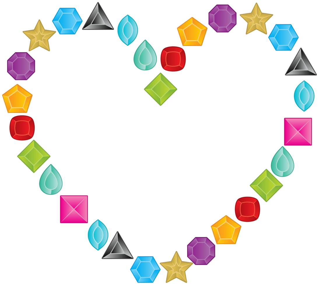 Diamond layout heart png