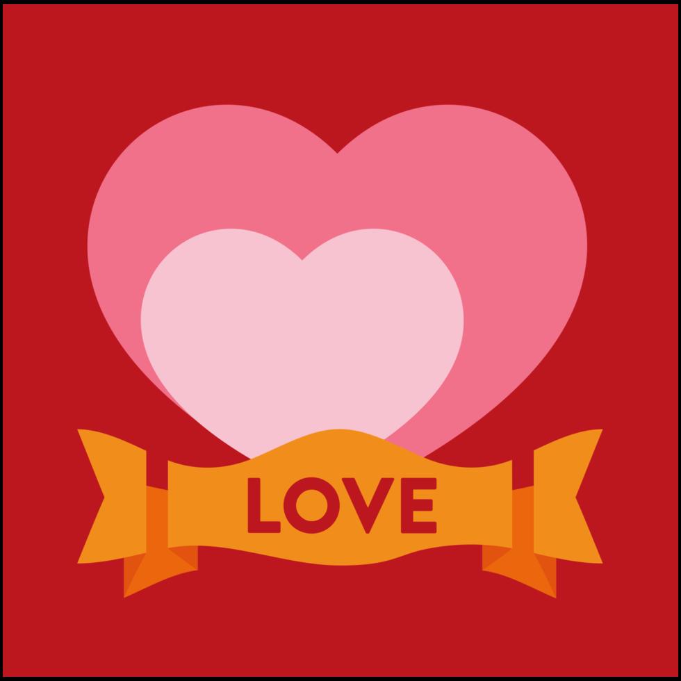 coeur avec bannière png