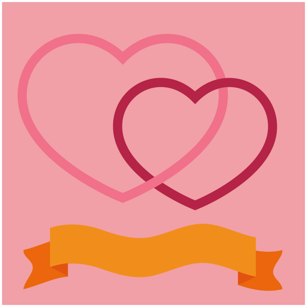 cuore con banner png