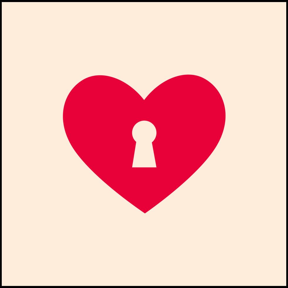 icône simple coeur png