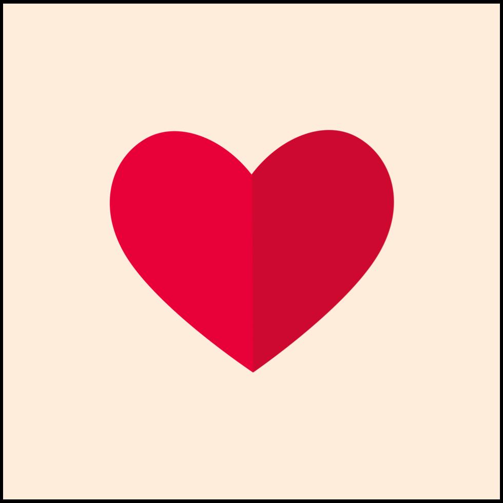 hjärta enkel ikon png