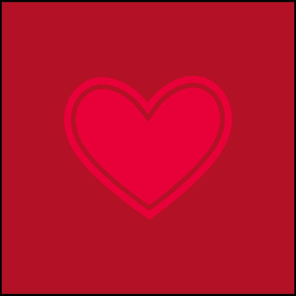 icono simple corazón png