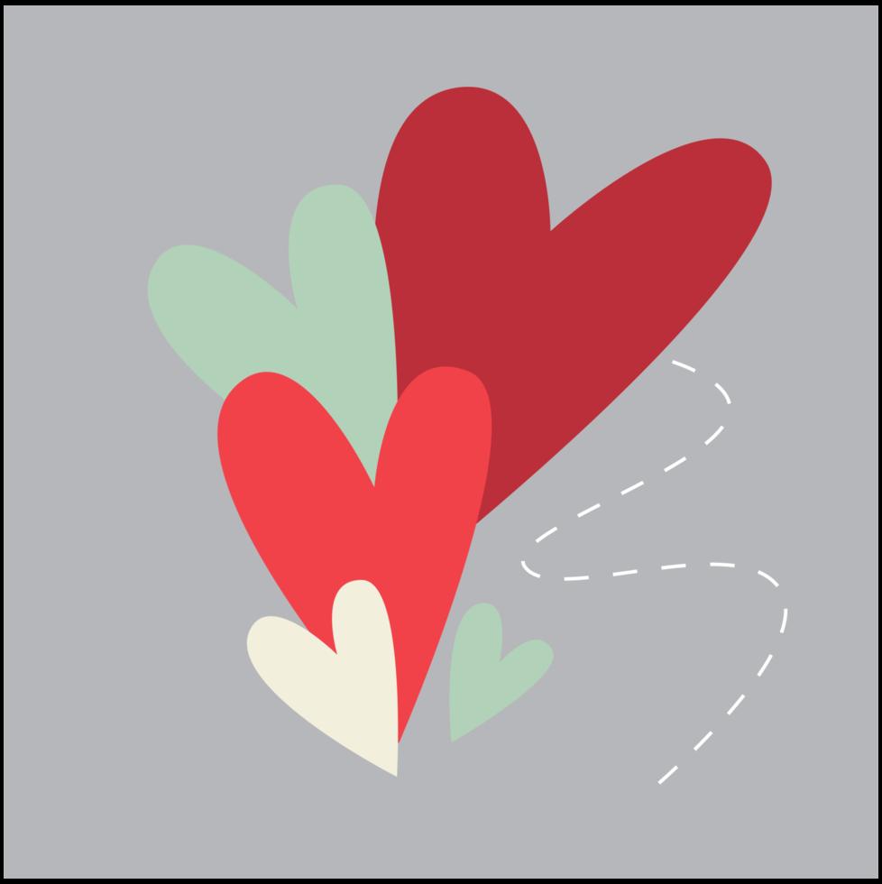 carte de Saint Valentin coeur png