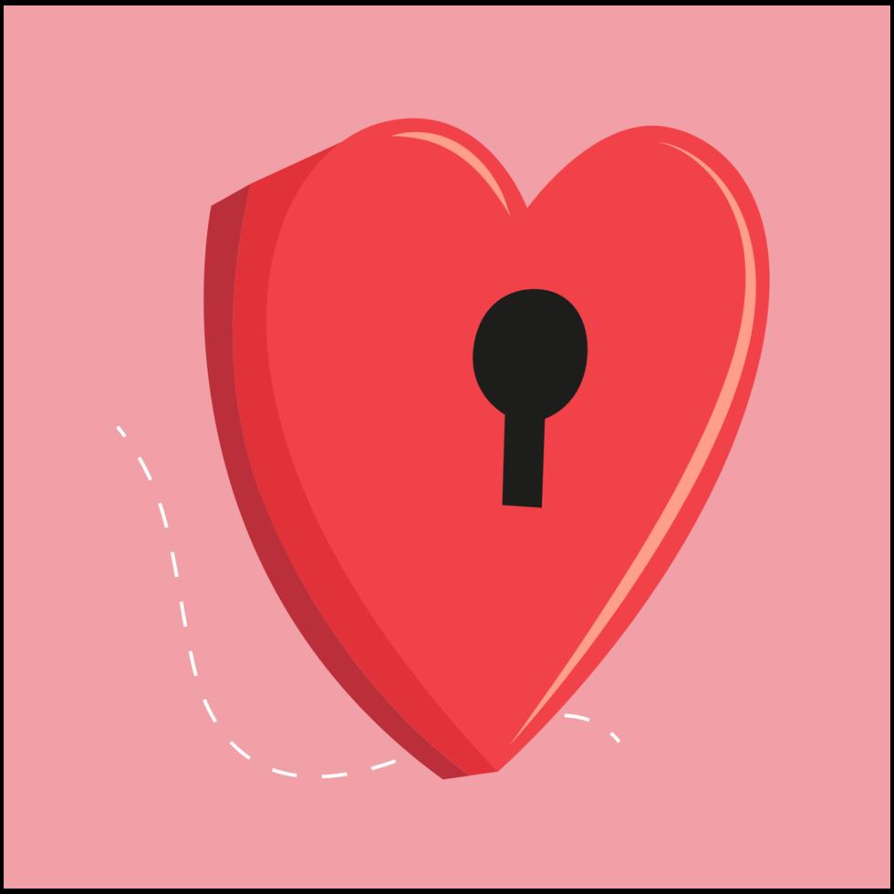 cartolina di San Valentino cuore png