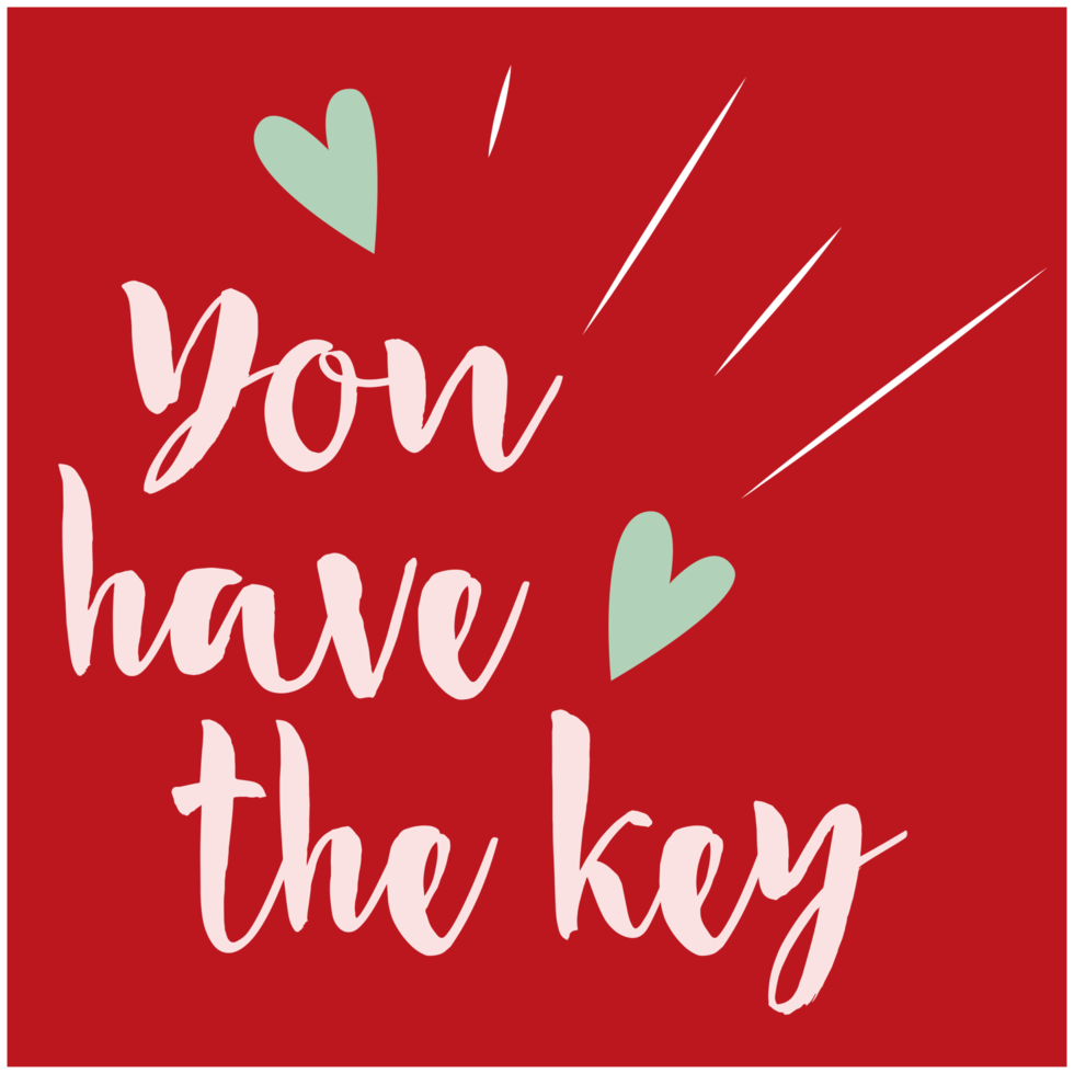 Heart valentine card png